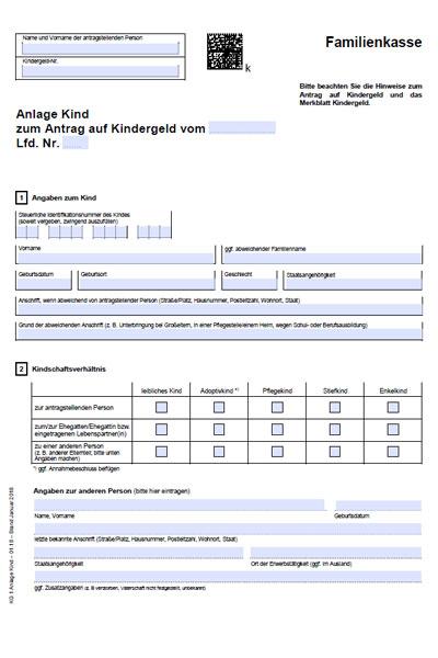 Kindergeld - заполнить документы для получения детского ...